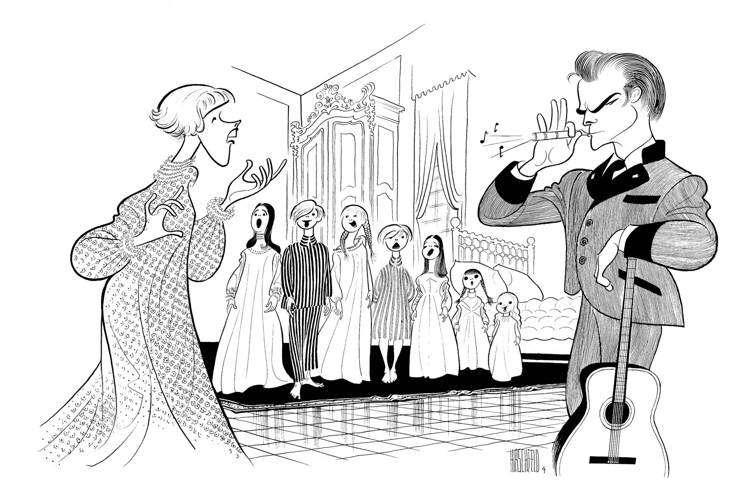 Line Drawing In Art : Al hirschfeld broadway s king of caricature illustration chronicles